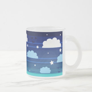 Moon Stars Clouds Stripes Coffee Mugs