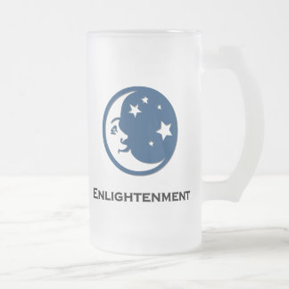 Moon Stars Enlightenment Frosted Glass Beer Mug