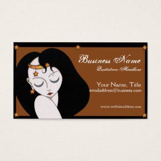 Moon & Stars Girl  - Fantasy Business Cards