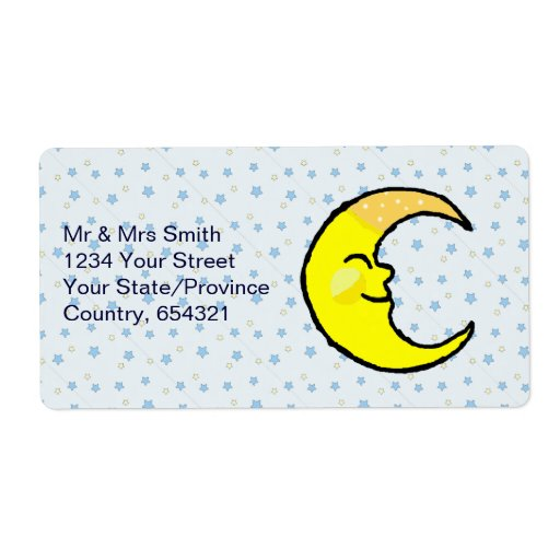 Moon & Stars Personalized Shipping Labels