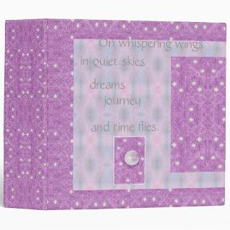 Moon Stars Pastel Dream Journal Diary Poetry Pix 3 Ring Binder