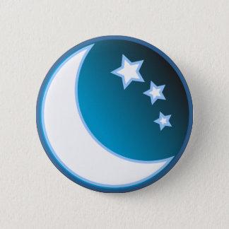Moon & Stars Pinback Button