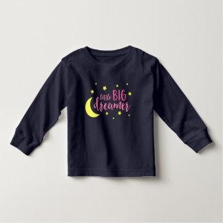 Moon & Stars Pink Little Big Dreamer Toddler T-shirt