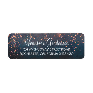 Moon Stars Shimmer Wedding Label
