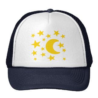 Moon stars sky hats