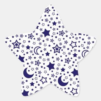 Moon & Stars Star Sticker
