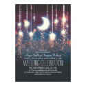 Moon Stars & String Lights Summer Wedding Card