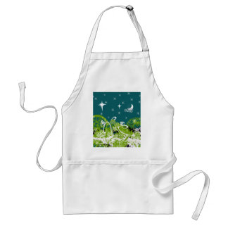 Moon Stars Swirl Paint Splat Adult Apron