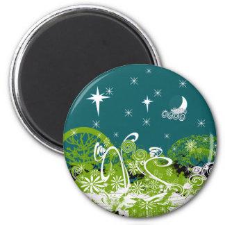 Moon Stars Swirl Paint Splat Magnet