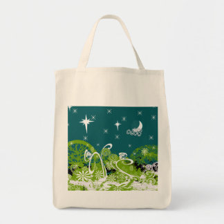 Moon Stars Swirl Paint Splat Tote Bag