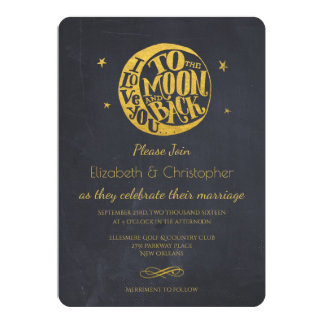 Moon & Stars With Romantic Saying Wedding Invite