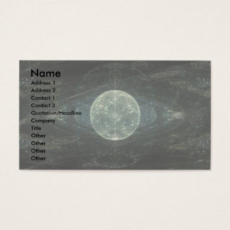 """Moon Station"" Fractal Art Business Card"