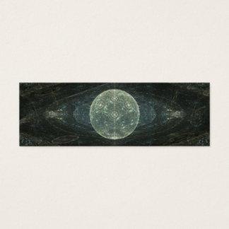 """Moon Station"" Fractal Art Mini Business Card"