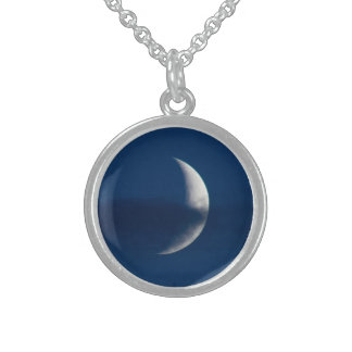Moon Sterling Silver Necklace