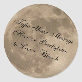 Moon Sticker Personalized Full Moon Stickers Moon