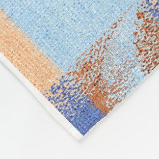 Moon Stripes Fade Pattern Fleece Blanket