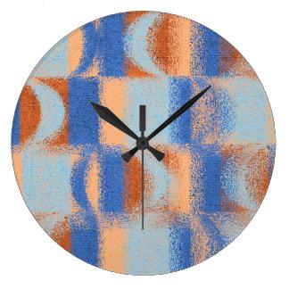 Moon Stripes Fade Pattern Large Clock