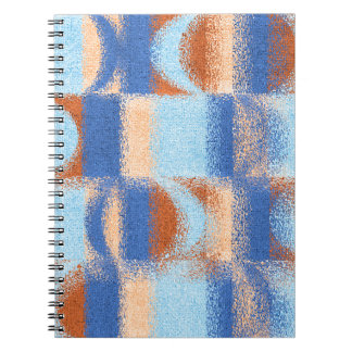 Moon Stripes Fade Pattern Spiral Notebook