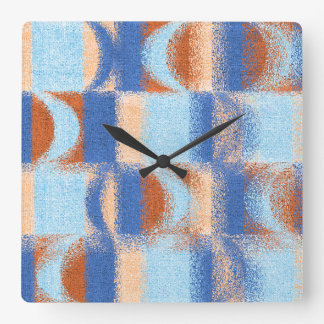 Moon Stripes Fade Pattern Square Wall Clock