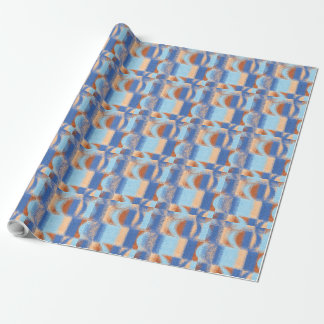 Moon Stripes Fade Pattern Wrapping Paper