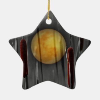 Moon Struck Ceramic Ornament