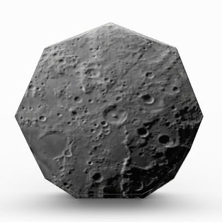 Moon surface acrylic award