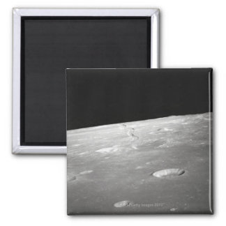 Moon Surface and Horizon 2 2 Inch Square Magnet