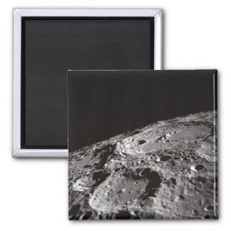 Moon Surface and Horizon 2 Inch Square Magnet