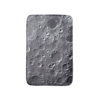 Moon surface bathroom mat