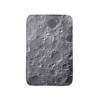 Moon surface bathroom mat