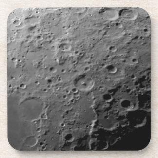 Moon surface beverage coaster