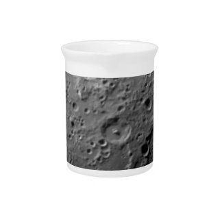Moon surface beverage pitcher