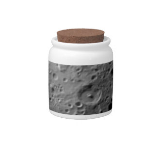 Moon surface candy jar