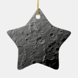 Moon surface ceramic ornament