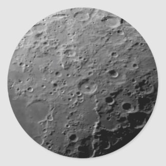 Moon surface classic round sticker