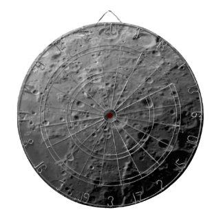 Moon surface dart board