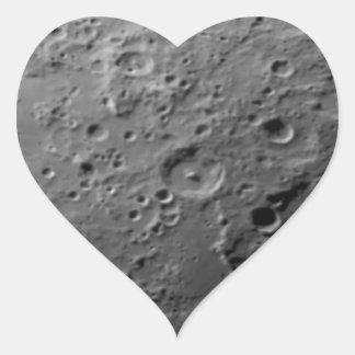 Moon surface heart sticker