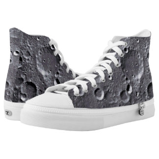 Moon surface High-Top sneakers