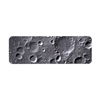 Moon surface label