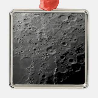 Moon surface metal ornament