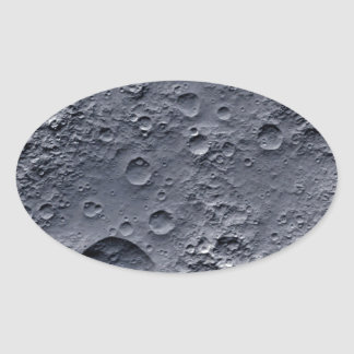 Moon Surface Oval Sticker
