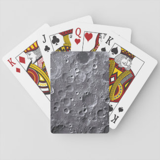 Moon surface playing cards