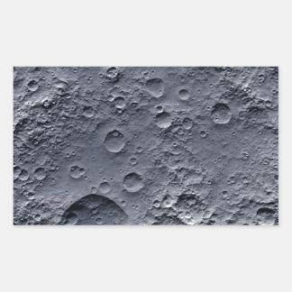 Moon Surface Rectangular Sticker