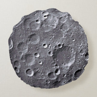 Moon surface round pillow