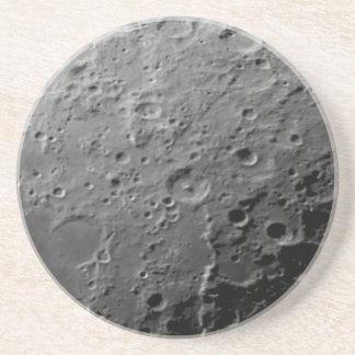 Moon surface sandstone coaster