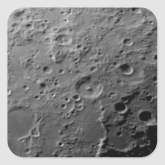 Moon surface square sticker