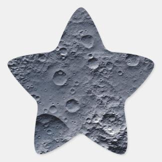 Moon Surface Star Sticker