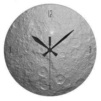 Moon Surface Texture Large Clock
