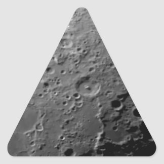 Moon surface triangle sticker