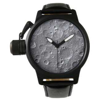 Moon surface wristwatch